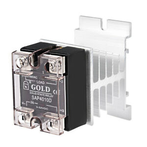 Dc 3 32v To Ac 40 480v 10a Single Phase Solid State Relay Module Dc To Ac