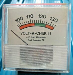 Vintage Volt a chek Ii j F Ivan Company tester Meter Made In Usa