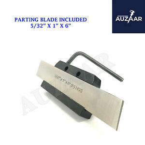Lathe Clamp Type Parting Cut Off Tool Holder Shank 1 2 With 1 Inch M2 Hss Blade