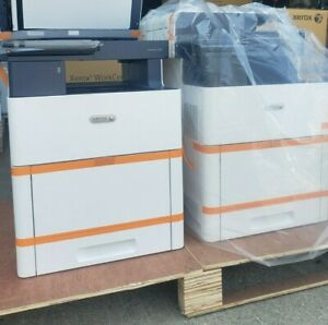 Two 2 Xerox Versalink C605 Color Bw Printer Scanner Copier Fax 55ppm Mfp