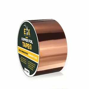 Copper Foil Tape 2inch X 33 Ft With Dual Conductive Adhesive For Guitar And Emi