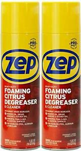 Zep Heavy duty Foaming Degreaser Zuhfd18 2 pack Clings To Surfaces To Remov