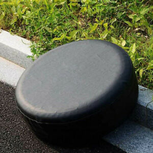 15 Pure Black Trailer Spare Wheel Tire Cover Heavy Duty Leather Vinyl Material