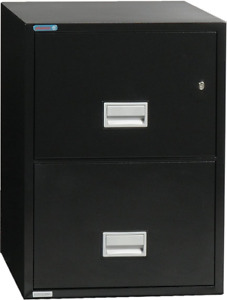 Phoenix Vertical 31 Inch 2 drawer Letter Fireproof File Cabinet With Lock Water