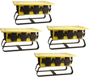 Coleman Cable 019703r02 50a Portable Gcfi Power Distribution Spider Box 4 pack