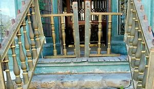 Amazing Early Victorian Stair Railings W Gold Gilt Detail