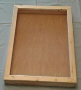 Table Top Display Case Natural Pine Finish 36 l X 24 w X 4 d