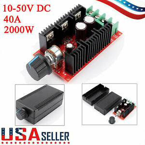 12v 36v 40a Low Voltage Dc Motor Speed Control Pwm Hho Rc Controller Kit New