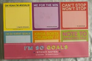 Knock Knock I m So Goals Sticky Note Set 6 Designs 40 Sheets Each New