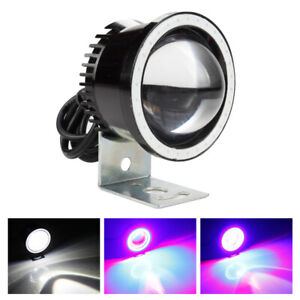 2 5in Led Motorcycle Headlight Projector Light Drl Fog Driving Strobe Lamp