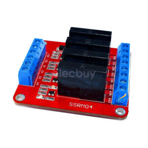 5v 4 Channel Solid State Relay Module Board Ssr Switch For Arduino