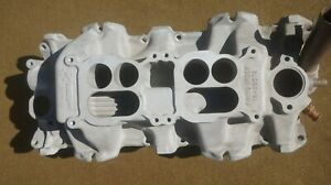1962 1964 Chevy 409 2x4 Dual Quad Aluminum Intake Manifold 3814881 Dated 1 10 62