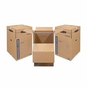 Bankers Box Smoothmove Wardrobe Moving Boxes Tall 24 X 24 X 40 Inches 3 Pa