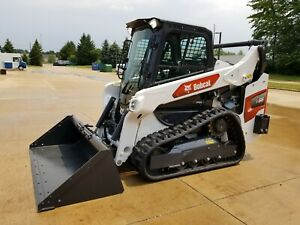 2021 Bobcat T66 Compact Track Loader W Bucket 66 Hours Cab Heat Ac 2 speed