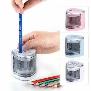 New Electric Automatic Pencil Sharpener Stationery With 2 Holes For School K8l4