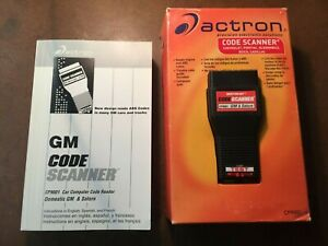 Actron Cp9001 Engine Code Amp Abs Scanner Reader And Book 1982 1993 Gm Saturn