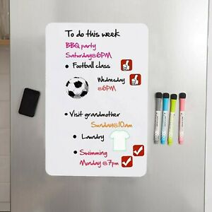 Hivillexun Magnetic Dry Erase White Board Sheet For Fridge With Stain Resis