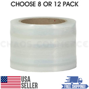 80 Gauge Self adhering Hand Stretch Wrap Roll Size 3 x1000 Ft Choose Quantity