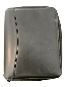 Spacemaker Franklin Covey Black Leather 1 125 Rings Planner Size 9 5 X 8