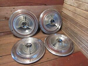 Vintage Set Of 4 Thunderbird Hubcaps Wheel Covers
