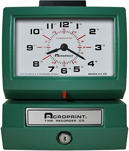 Acroprint Heavy Duty Analog Manual Time Recorder 125er3