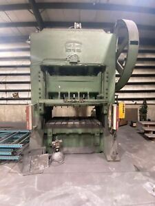 300 Ton Cleveland 80d 72 300 Straight Side Press Bed Size 72 x 42 10 Stroke