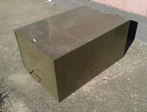 Vintage Cole Industrial Metal One Drawer Legal Size File Cabinet Army Green