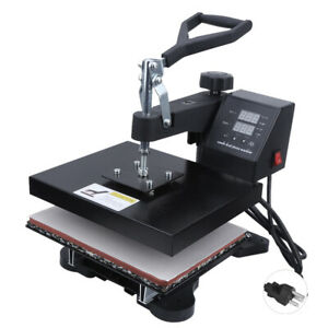 T shirt Heat Press Double Screen Controller Clamshell Design For Excellent