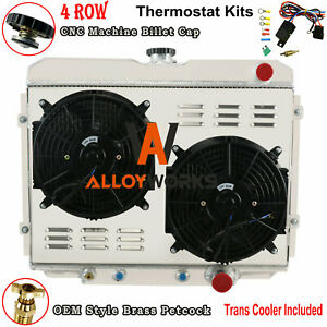 3 Row Radiator Shroud Fan Thermostat For 1967 1970 Ford Mustang Mercury Cougar