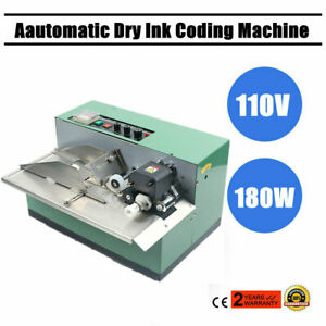 180w Printing Accurately Automatic Ink Wheel Code Print Label Coding Machine Usa
