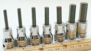 Snap On 3 8 9 64 7 Pc 3 8 Drive Usa Hex Allen Socket Set Very Good Cond