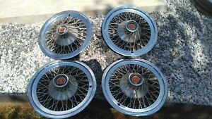 15 Wire Wheel Covers Ford Ltd Hubcaps Set Of 4