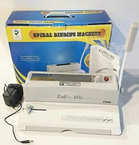 Coilpro 101i Spiral Binding Machine With Electric Coil Inserter Notebook Binder