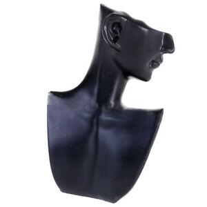 Pendant Jewelry Head Mannequin Bust Store Display Resin Material Black