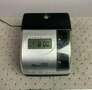 Acroprint Es700 Multi function Side Printing Time Recorder W ac Adapter No Key