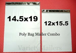 100 Poly Bag Mailer Combo 14 5x19 12x15 5 Large 2 5 Mil Quality Shipping Bags