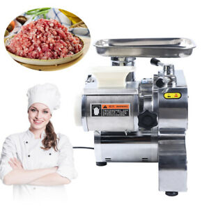 1100w Commercial Electric Meat Grinder Stainless Steel Sausage Stuffer 250kg h