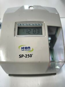 Icon Sp 250 Electronic Time And Date Stamp tested And Working Missing Key