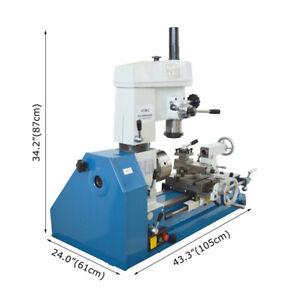 Multifunctional Lathe Drilling And Milling Combination Micro Machine Tool 110v