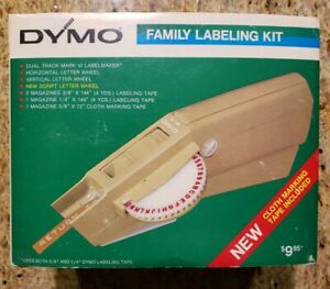 Vintage 1971 Dymo Label Maker W Case Instructions Extra Tape Printing Wheels