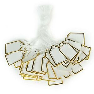Ultnice 500pcs Paper Tag Price Label Tag With Hanging String For Jewelry Watc