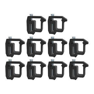 Mounting Clamps Truck Caps Camper Shell Fit For Chevy 1500 2500 3500 Black