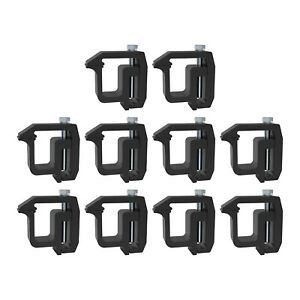 Aluminum Mounting Clamps Truck Caps Camper Shell Topper Fit For Chevy Black