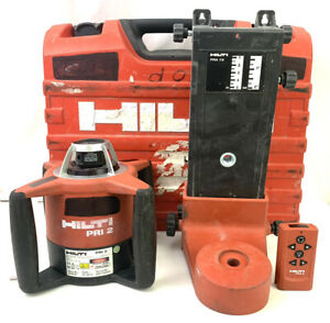 Hilti Pri 2 Rotating Laser Level With Wall Bracket Remote And Case