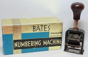 Vintage Automatic Numbering Machine the Force Model 150 Bates Box