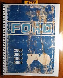 Ford 2000 3000 4000 5000 Tractor Owner s Operator s Handbook Manual Se3112 1 69