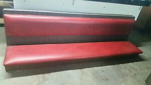 Restaurant Upolstered Wall Guest Bench Red Long Used