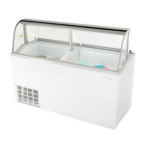 Turbo Air Tidc 70w n 70 In White Ice Cream Dipping Cabinet