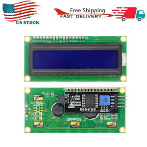 Lcd 1602 16x2 Blue Screen With Backlight Display 1602a 5v Module For Arduino