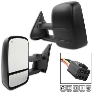 Power Heated Pair Towing Mirrors For 2001 02 Chevy Silverado 2500 Hd Textured